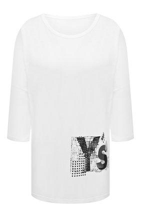 Женская хлопковая футболка Y`S белого цвета, арт. YB-T02-670 | Фото 1