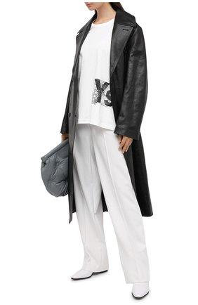 Женская хлопковая футболка Y`S белого цвета, арт. YB-T02-670 | Фото 2
