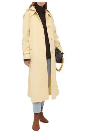 Женский хлопковый тренч WALES BONNER желтого цвета, арт. WA20C001-TWI400E-100   Фото 2