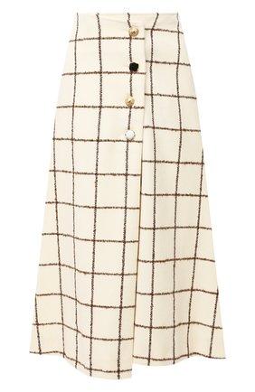 Женская шерстяная юбка WALES BONNER белого цвета, арт. WA20SK06-W00101E-1180 | Фото 1