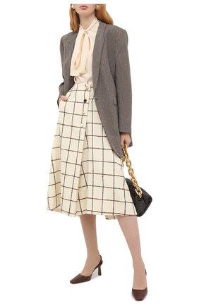 Женская шерстяная юбка WALES BONNER белого цвета, арт. WA20SK06-W00101E-1180 | Фото 2