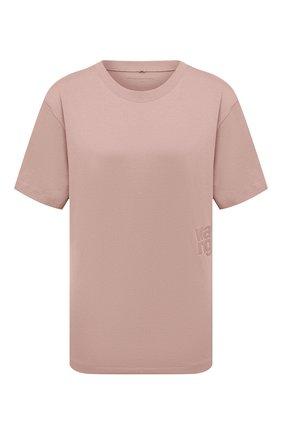 Женская хлопковая футболка ALEXANDERWANG.T розового цвета, арт. 4CC1201152 | Фото 1