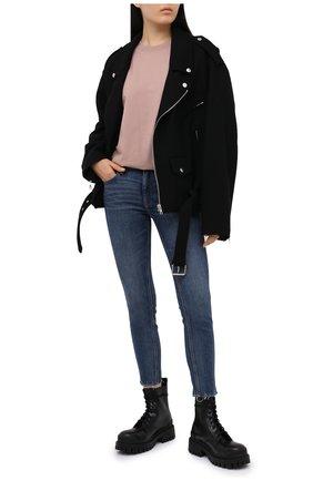 Женская хлопковая футболка ALEXANDERWANG.T розового цвета, арт. 4CC1201152 | Фото 2