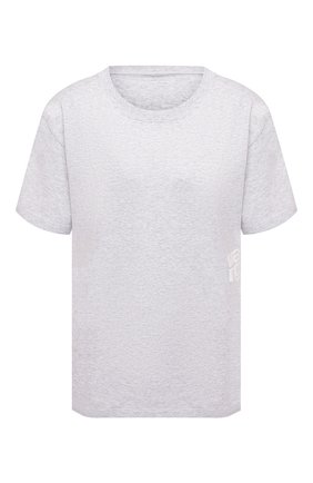 Женская хлопковая футболка ALEXANDERWANG.T светло-серого цвета, арт. 4CC1201152 | Фото 1