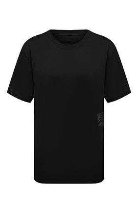 Женская хлопковая футболка ALEXANDERWANG.T черного цвета, арт. 4CC1201152 | Фото 1