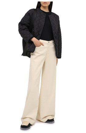 Женская хлопковая футболка ALEXANDERWANG.T черного цвета, арт. 4CC1201152 | Фото 2