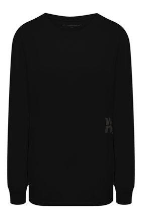 Женская хлопковый лонгслив ALEXANDERWANG.T черного цвета, арт. 4CC1201151 | Фото 1