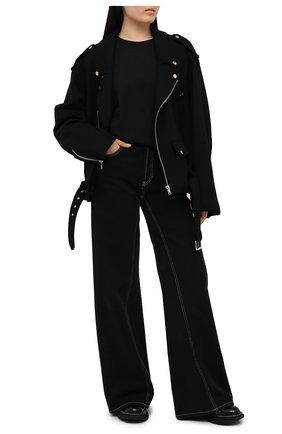 Женская хлопковый лонгслив ALEXANDERWANG.T черного цвета, арт. 4CC1201151 | Фото 2