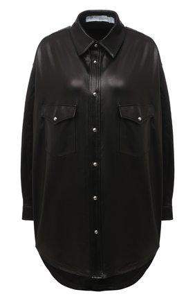 Женская кожаная рубашка IRO черного цвета, арт. WM100EDDA | Фото 1
