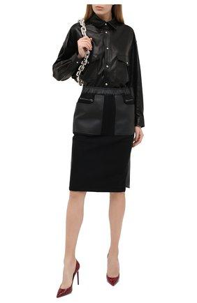 Женская кожаная рубашка IRO черного цвета, арт. WM100EDDA | Фото 2