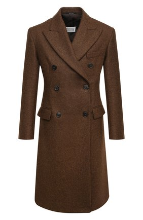 Женское шерстяное пальто MAISON MARGIELA коричневого цвета, арт. S51AA0269/S52956 | Фото 1