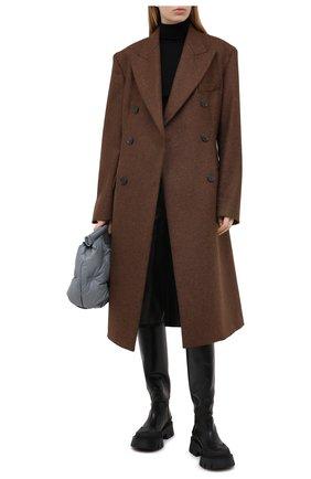 Женское шерстяное пальто MAISON MARGIELA коричневого цвета, арт. S51AA0269/S52956 | Фото 2