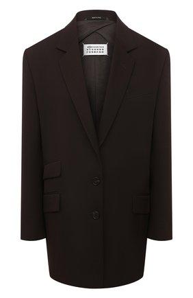 Женский шерстяной жакет MAISON MARGIELA коричневого цвета, арт. S51BN0380/S53202   Фото 1