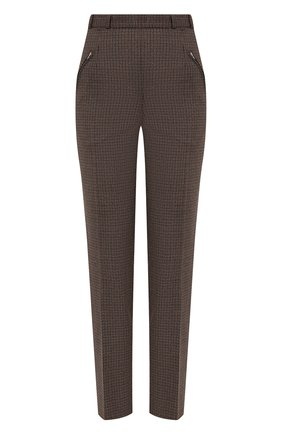 Женские шерстяные брюки MAISON MARGIELA коричневого цвета, арт. S51KA0530/S53200   Фото 1