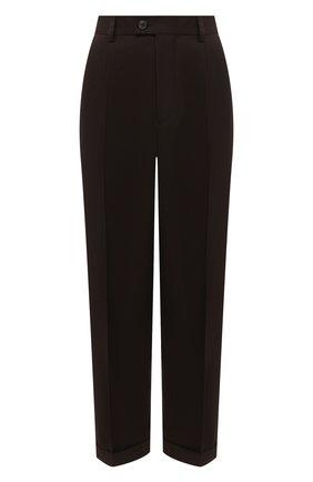 Женские шерстяные брюки MAISON MARGIELA коричневого цвета, арт. S51KA0532/S53202 | Фото 1