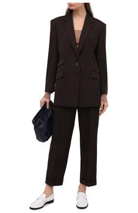 Женские шерстяные брюки MAISON MARGIELA коричневого цвета, арт. S51KA0532/S53202 | Фото 2