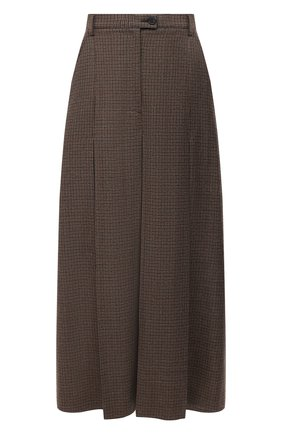Женские шерстяные брюки MAISON MARGIELA коричневого цвета, арт. S51MA0426/S53200 | Фото 1