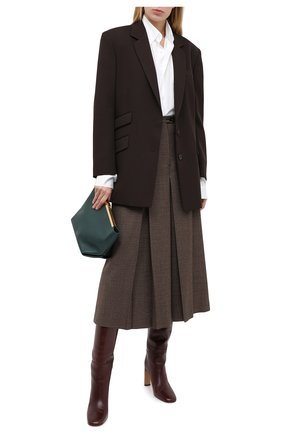 Женские шерстяные брюки MAISON MARGIELA коричневого цвета, арт. S51MA0426/S53200 | Фото 2