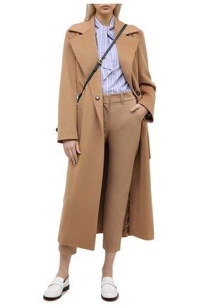 Женские хлопковые брюки ELEVENTY бежевого цвета, арт. B80PANB09 TES0B146 | Фото 2