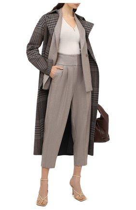 Женские шерстяные брюки ELEVENTY бежевого цвета, арт. B80PANB02 TES0B007 | Фото 2