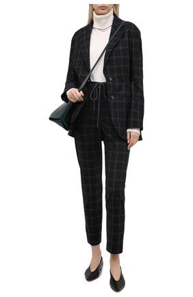 Женские шерстяные брюки ELEVENTY серого цвета, арт. B80PANA15 TES0B140   Фото 2