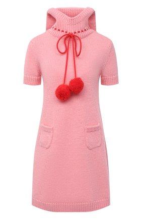 Женское шерстяное платье GUCCI розового цвета, арт. 639048/XKBKJ | Фото 1