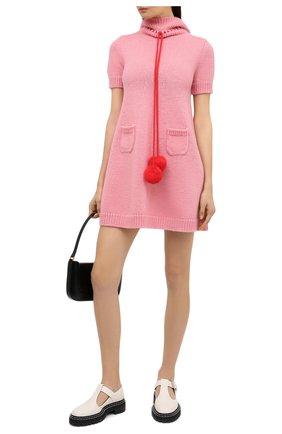 Женское шерстяное платье GUCCI розового цвета, арт. 639048/XKBKJ | Фото 2