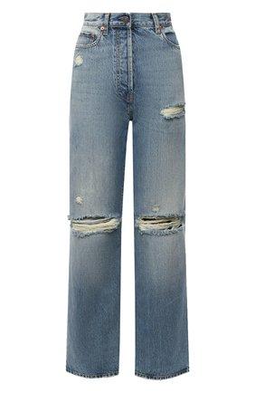 Женские джинсы GUCCI синего цвета, арт. 638045/XDBFI | Фото 1