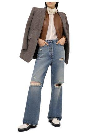 Женские джинсы GUCCI синего цвета, арт. 638045/XDBFI | Фото 2