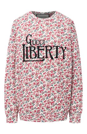 Женская хлопковый свитшот GUCCI розового цвета, арт. 638043/XJCYA | Фото 1