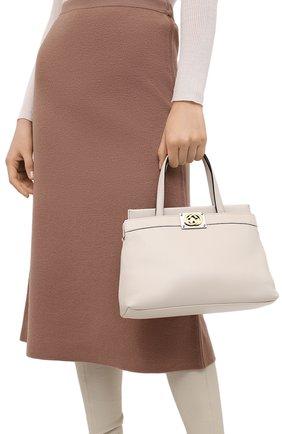 Женская сумка linea matisse small GUCCI белого цвета, арт. 631663/1W10X | Фото 2