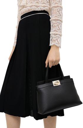 Женская сумка linea matisse small GUCCI черного цвета, арт. 631663/1W10X | Фото 2
