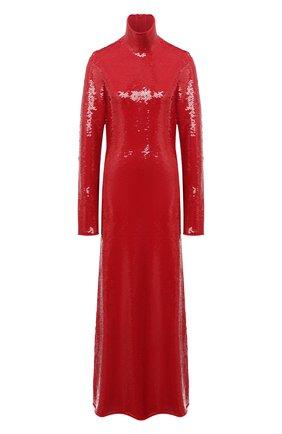 Женское платье с пайетками BOTTEGA VENETA красного цвета, арт. 636546/V07E0 | Фото 1