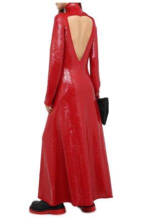Женское платье с пайетками BOTTEGA VENETA красного цвета, арт. 636546/V07E0 | Фото 2