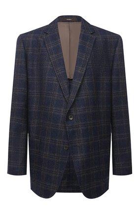 Мужской пиджак из шерсти и кашемира WINDSOR темно-синего цвета, арт. 13 GAR0N-U 10006028/60-66 | Фото 1