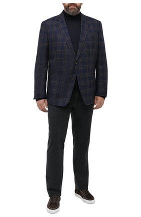 Мужской пиджак из шерсти и кашемира WINDSOR темно-синего цвета, арт. 13 GAR0N-U 10006028/60-66 | Фото 2
