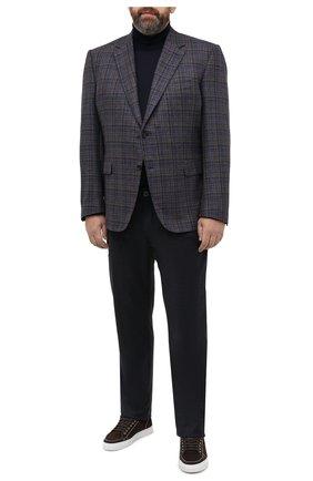 Мужские брюки из шерсти и кашемира CORTIGIANI темно-серого цвета, арт. 913572/S409/0000/2396/60-70 | Фото 2