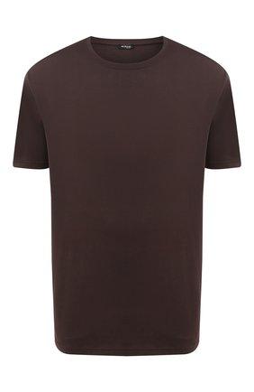 Мужская футболка из хлопка и кашемира KITON коричневого цвета, арт. UMK0020/4XL-8XL | Фото 1