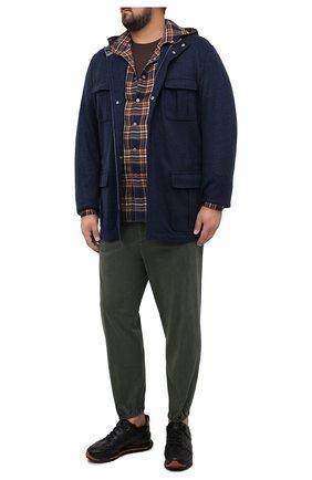 Мужская футболка из хлопка и кашемира KITON коричневого цвета, арт. UMK0020/4XL-8XL | Фото 2