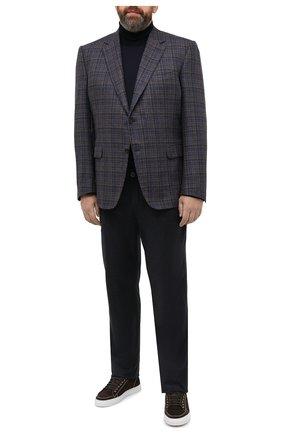 Мужской пиджак из шелка и кашемира CANALI коричневого цвета, арт. T11280/CX02819/60-64   Фото 2 (Длина (для топов): Стандартные; Материал внешний: Шелк, Шерсть; Рукава: Длинные; Материал подклада: Купро; Пиджаки М: Прямой; 1-2-бортные: Однобортные; Big sizes: Big Sizes; Стили: Классический; Случай: Коктейльный)