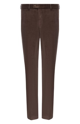 Мужские хлопковые брюки HILTL серого цвета, арт. 74818/60-70 | Фото 1