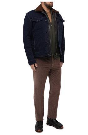 Мужские хлопковые брюки HILTL серого цвета, арт. 74818/60-70 | Фото 2