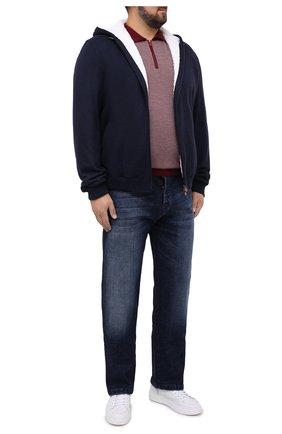 Мужское поло из кашемира и шелка KITON бордового цвета, арт. UK1106/4XL-8XL | Фото 2