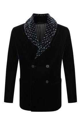 Мужской пиджак GIORGIO ARMANI темно-синего цвета, арт. 9WGGG0B4/T0025 | Фото 1