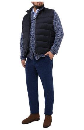Мужские хлопковые брюки MARCO PESCAROLO синего цвета, арт. CARACCI0L0/4219 | Фото 2