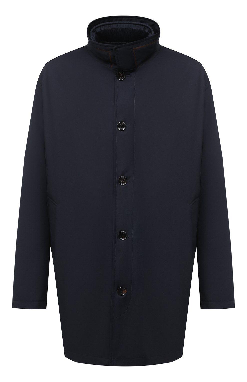 Мужская утепленное пальто KIRED темно-синего цвета, арт. WP0RDW7200002003/62-72 | Фото 1