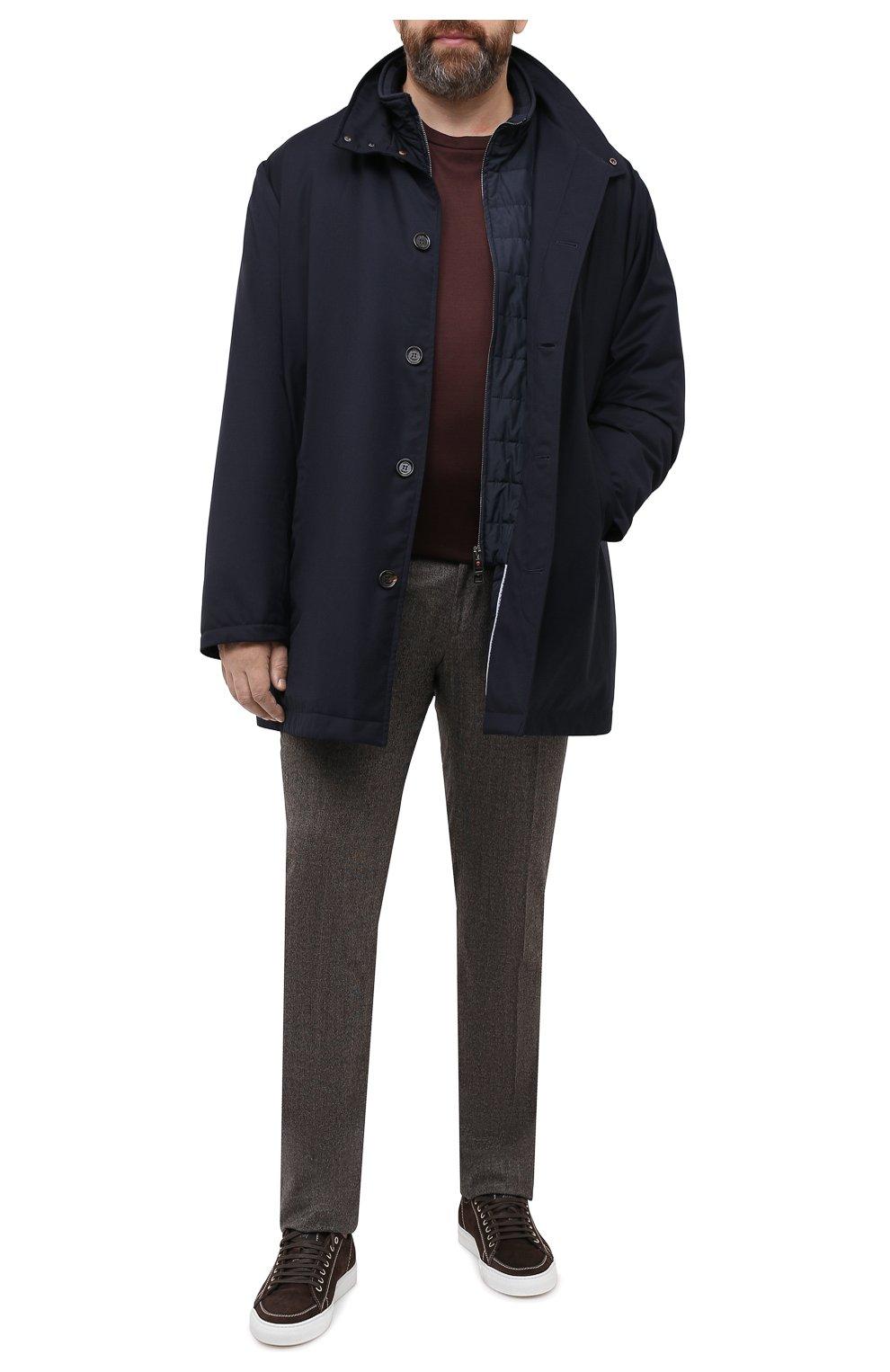 Мужская утепленное пальто KIRED темно-синего цвета, арт. WP0RDW7200002003/62-72 | Фото 2