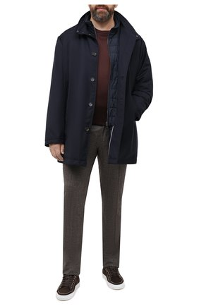 Мужская утепленное пальто KIRED темно-синего цвета, арт. WP0RDW7200002003/62-72   Фото 2