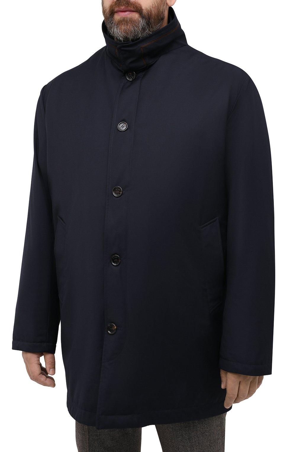Мужская утепленное пальто KIRED темно-синего цвета, арт. WP0RDW7200002003/62-72 | Фото 3