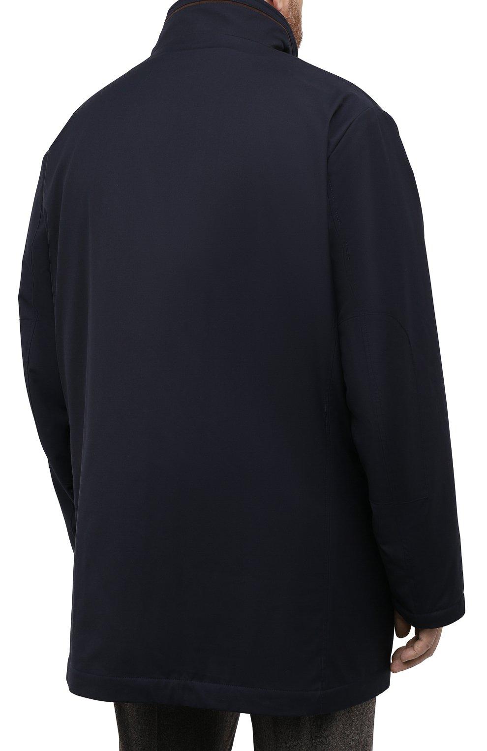 Мужская утепленное пальто KIRED темно-синего цвета, арт. WP0RDW7200002003/62-72 | Фото 4